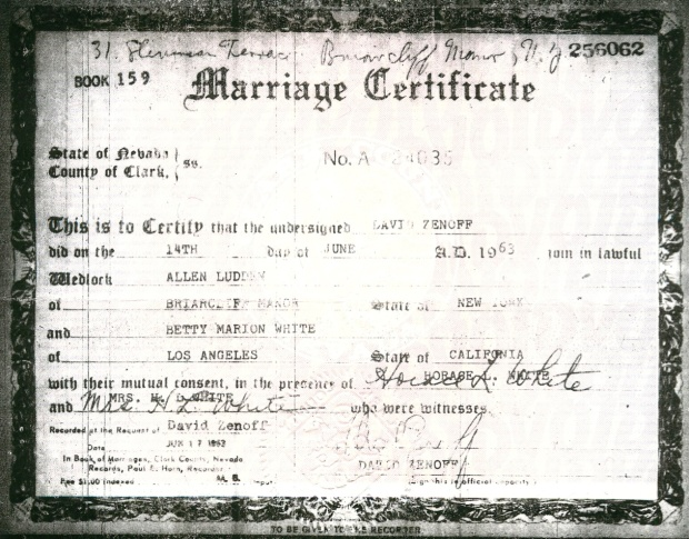 Vintage Marriage Certificate Washoe County Nevada: Las-vegas-marriage-license Images